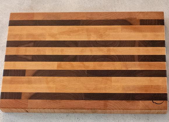 walnut and maple chop block