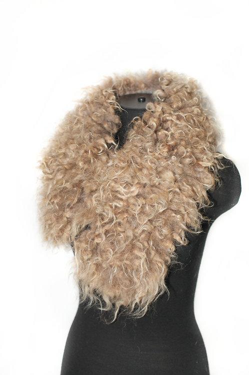 Raw Wool Felted Scarf Collar