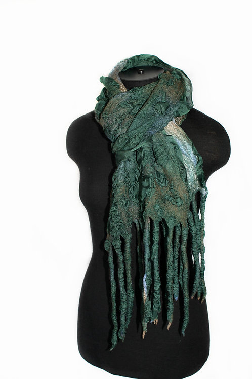 Nuno Felted Textured Scarf