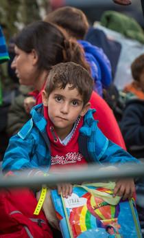 Die ersten Flüchtlinge erreichen Scheun