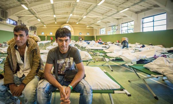 Flüchtlinge bei den Heeresfliegern in Wietzenbruch