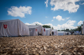 Das Zeltlager in Scheuen