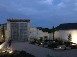 Upper courtyard