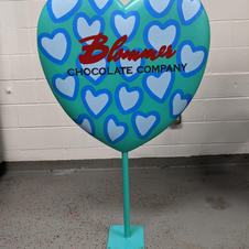 Blommer Chocolate Company Heart