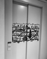 Décoration sur ascenseur