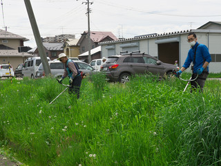 たくさん草を刈ったよー