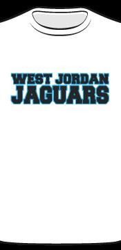 west jordan white tee front