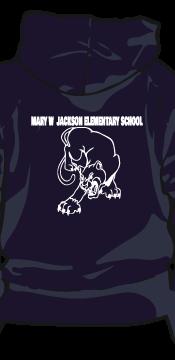 m w jackson elementary hoodie back