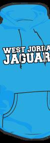 west jordan blue hoodie front
