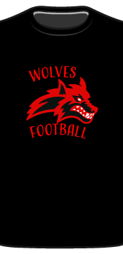wolves tee front
