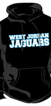 west jordan black hoodie front