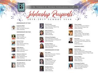 Congratulations 2018-19 Scholars!