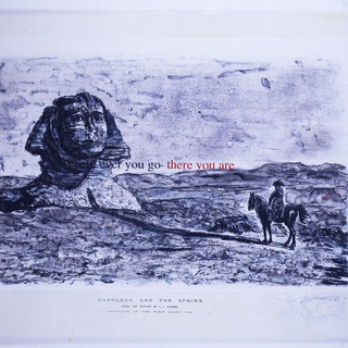 Napoleon and Sfinks  65'x40' monotype, silkscreen, hand coloring,mixed medium on French handmade Paper Colombe Laroque 1997.jpg