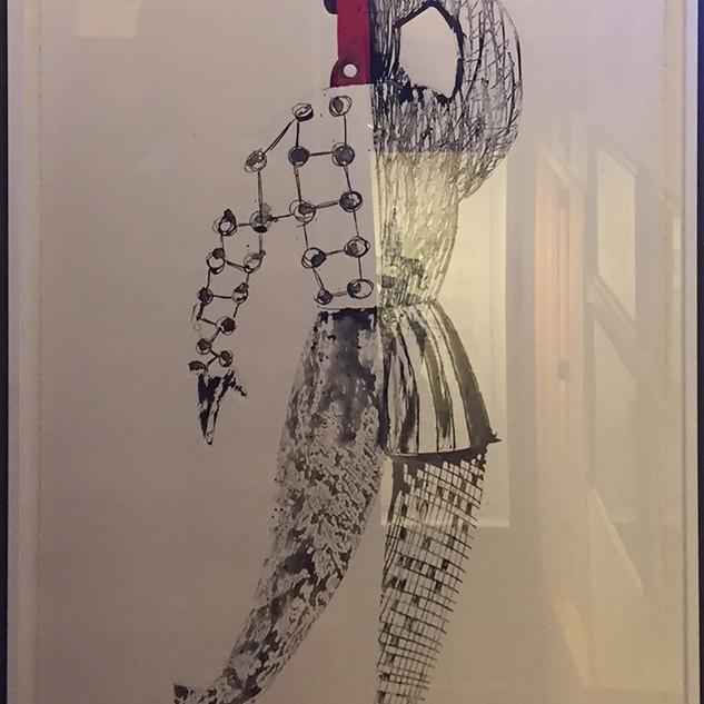 Man King #2 65'x40' monotype, silkscreen, hand coloring,mixed medium on French handmade Paper Colombe Laroque 1997.jpg