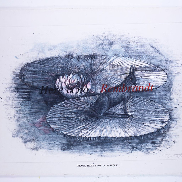 Rembrandt.... 65'x40' monotype, silkscreen, hand coloring,mixed medium on French handmade Paper Colombe Laroque 1997.jpg