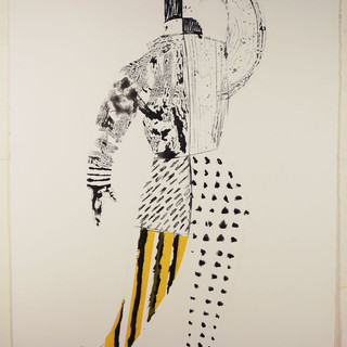 Man King #1 65'x40' monotype, silkscreen, hand coloring,mixed medium on French handmade Paper Colombe Laroque 2008.jpg
