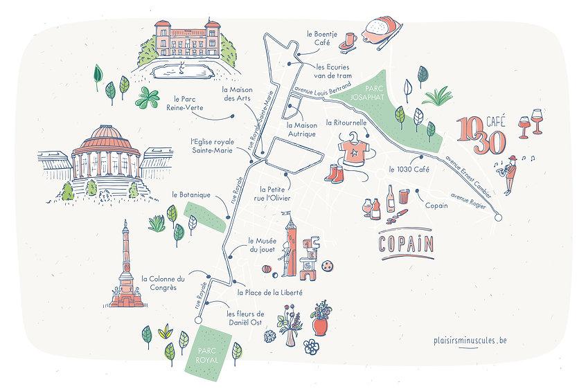 carte_Schaerbeek, julie servais, map illustrated, balade bruxelles