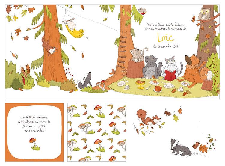 julie servais-illustratrice-bruxelles-illustration-bruxelles-annonce-naissance