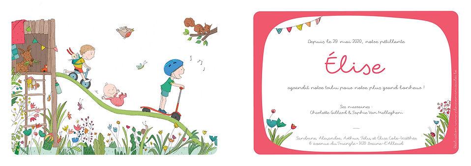 faire-part naissance- julie servais - illustrice bruxelles - plaisirs minuscules
