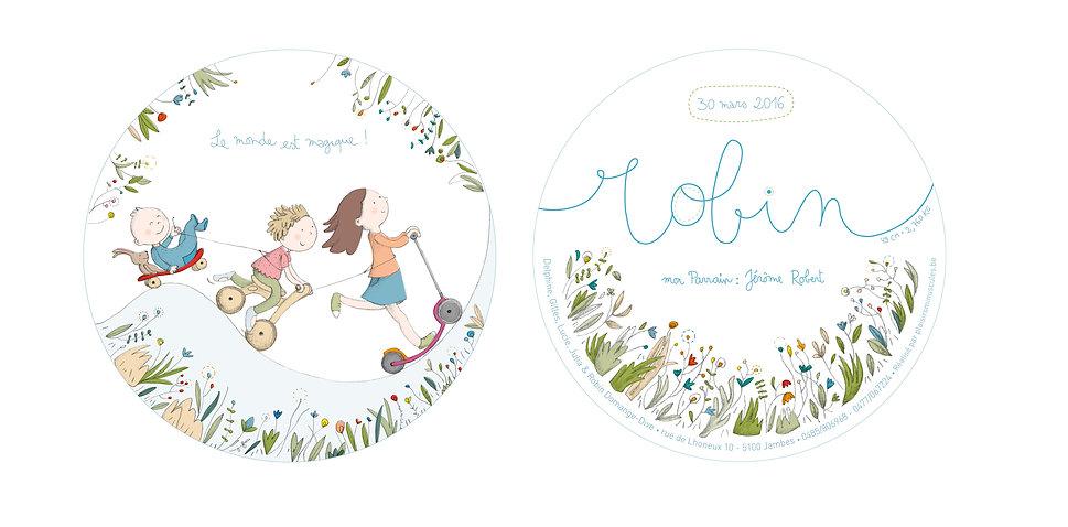 Faire-part-naissance-julie servais-plaisirs minuscules-illustratrice-bruxells-illustration-annonces
