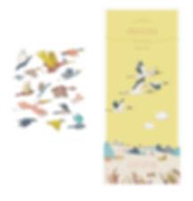 Faire-part de naissance plaisirs minuscules julie servais illustratrice bruxelles illustration oiseaux annonce naissance