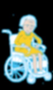 femme chaise roulante illustration vieillesse julie servais