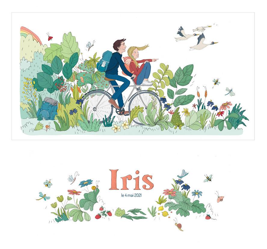 Faire-part de naissance, créatrice bruxelles, julie servais, illustratrice faire-part de naissance, végétal illustration