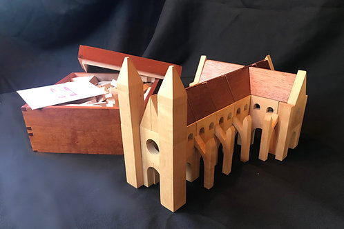 Hand-Made Half Size Cathedral Blocks Set