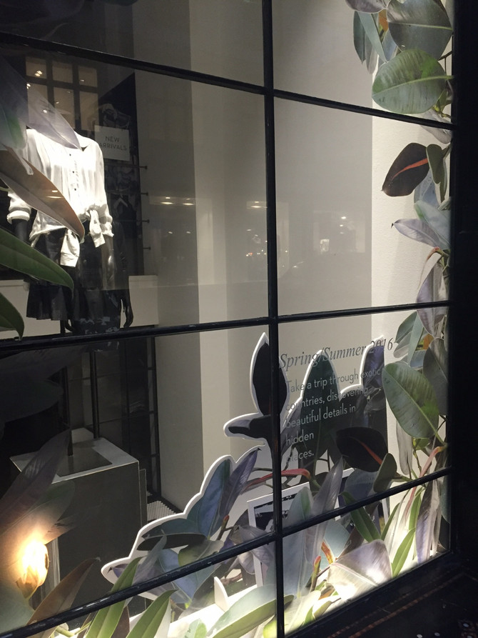 New window at the Munthe shop...S/S 2016 collection