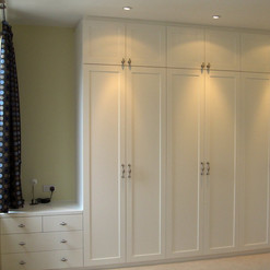 6 Column Shaker Style Wardrobes & Drawer Set