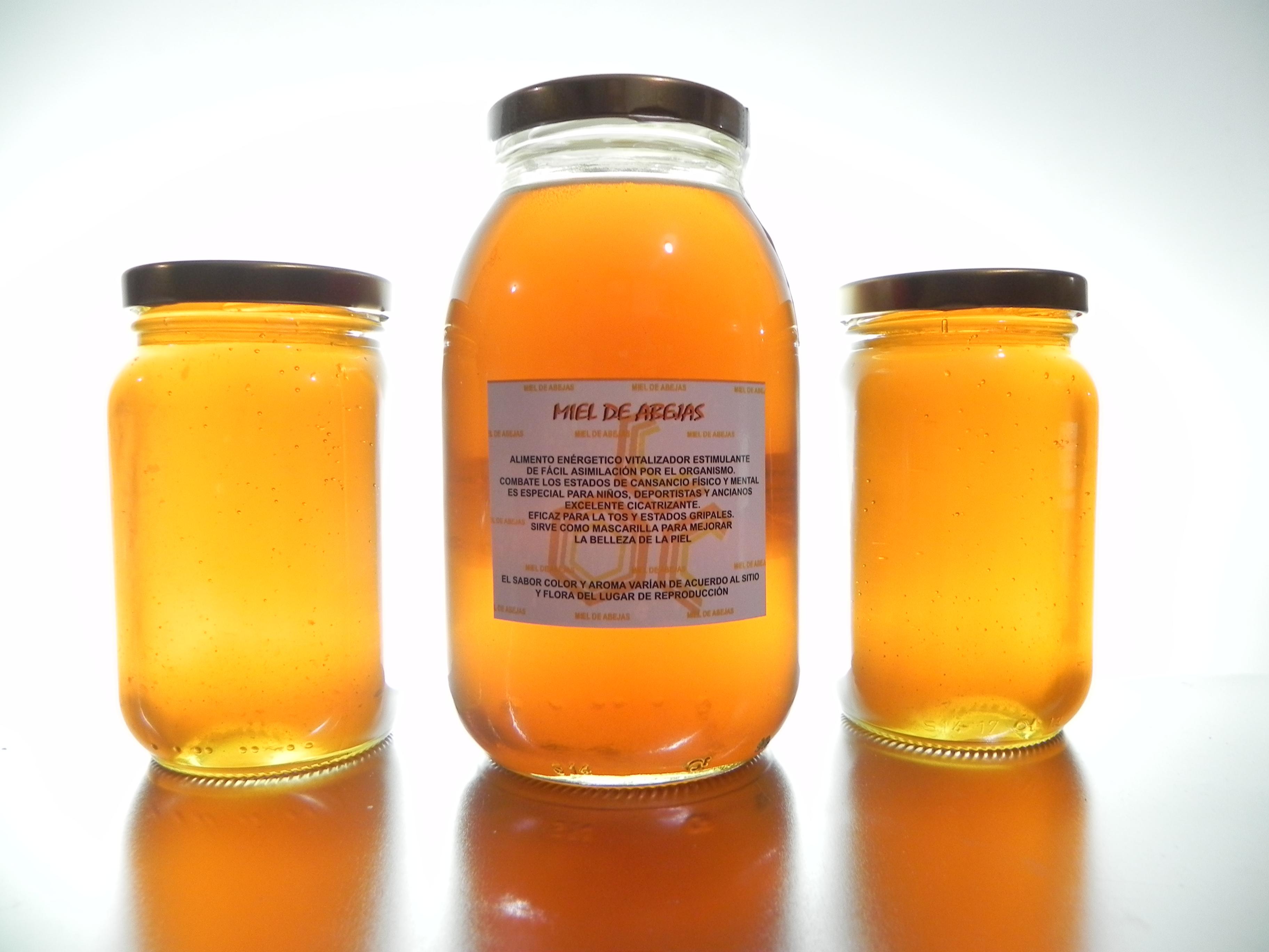 Prueba la miel de abejas es delicios