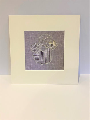 Bespoke Embroidered Print Inspired By Mrs Tiggy-Winkle
