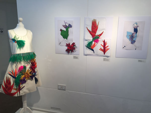 Tropical Flora collection in exhbition space