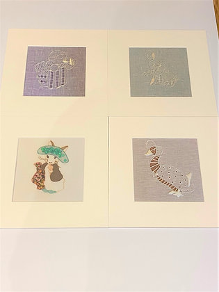 Collection Of Bespoke Embroidered Prints