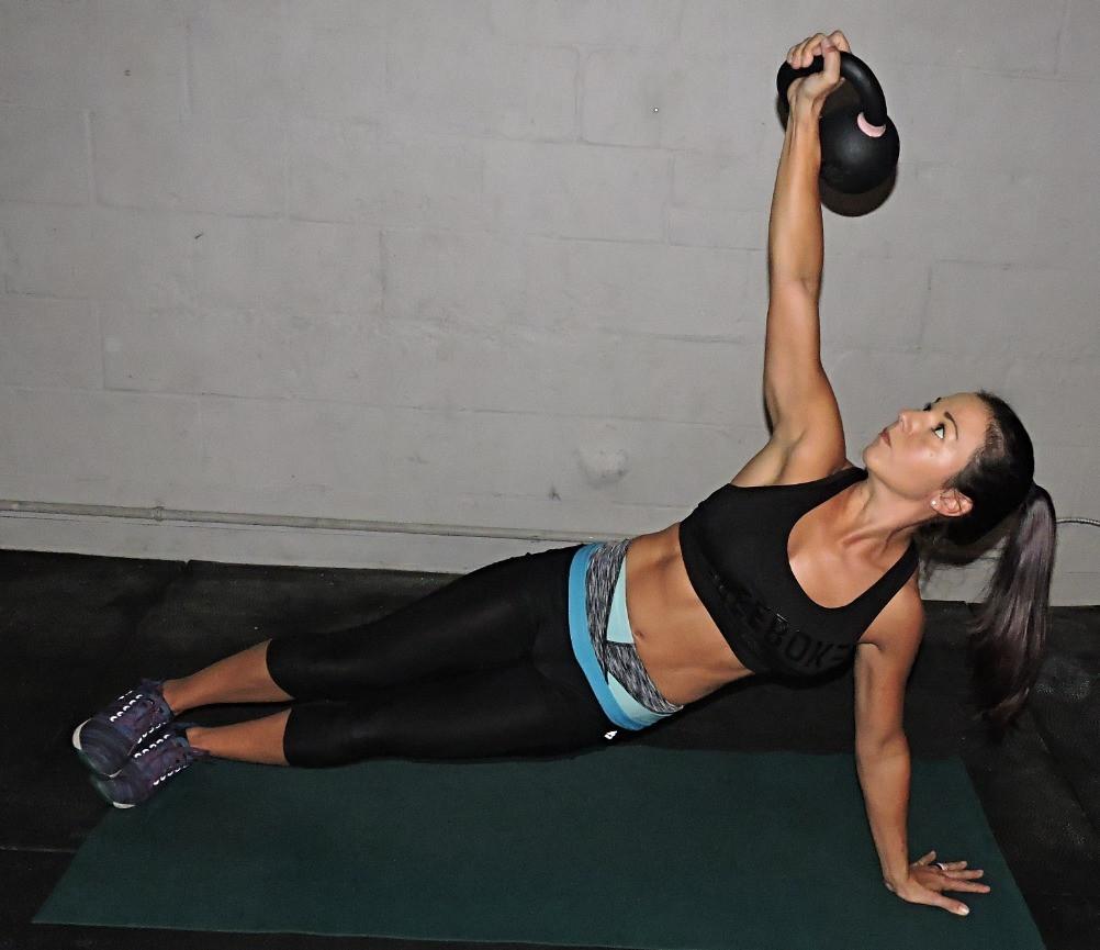 Jessica Lee Kettlebell Side Plank