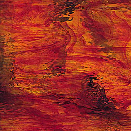 Waterglass Red/Amber Streaky (per square metre)