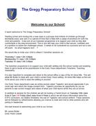 格雷格預備學校的邀請函