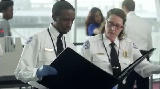 Sue Berch and Omar Scroggins in FedEx Airport Security spot