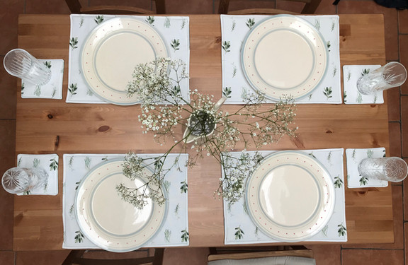 Herb fabric placemats