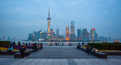 Pudong Twilight Illustrated