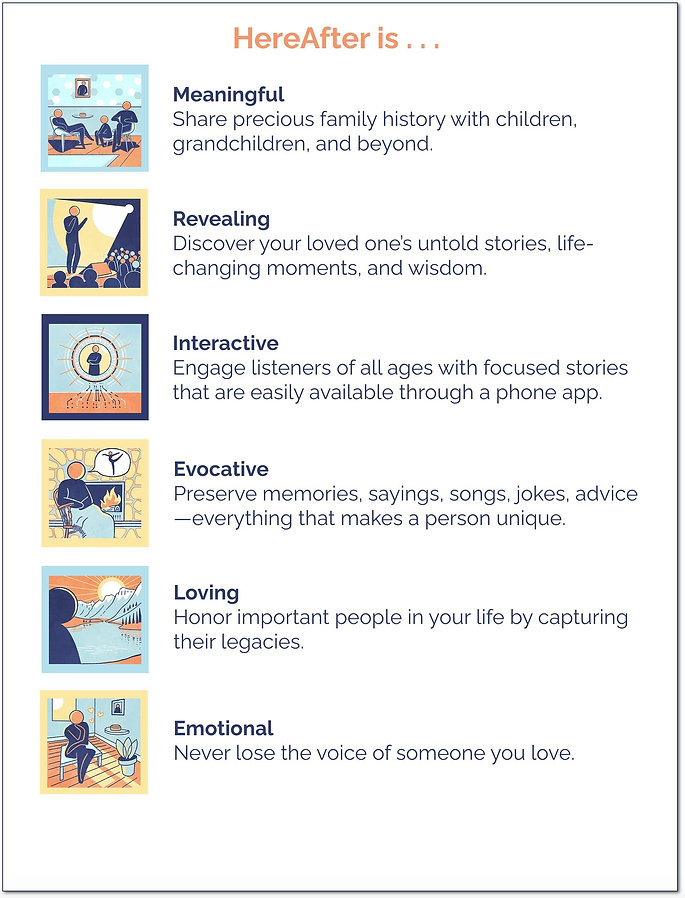 Reasons to record your life story with HereAfter AI