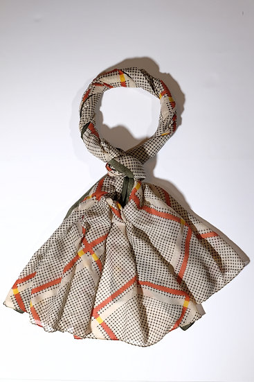 Elevate Orange Grey Pattern Scarf