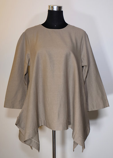Cotton Linen 3/4 Sleeve Top