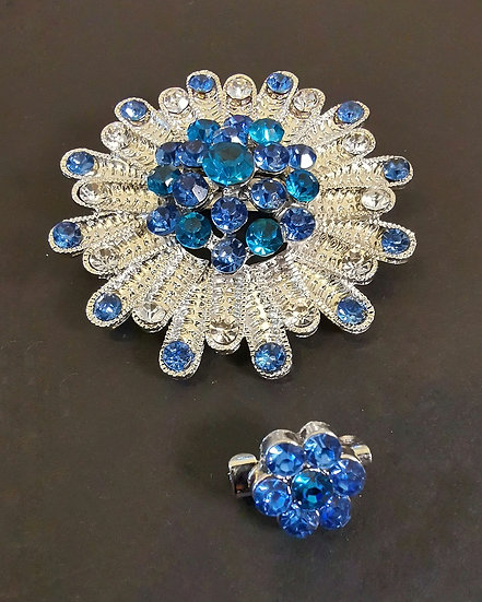 Halcyon Blue Ocean Star Brooch and Pin