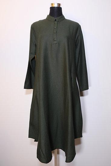 Cotton Linen Nehru Collar Tunic