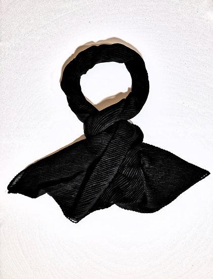 Arden Black Pleated Scarf