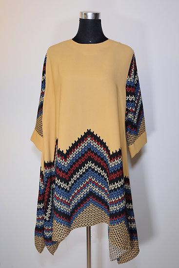 Cotton Poly Pattern Tunic