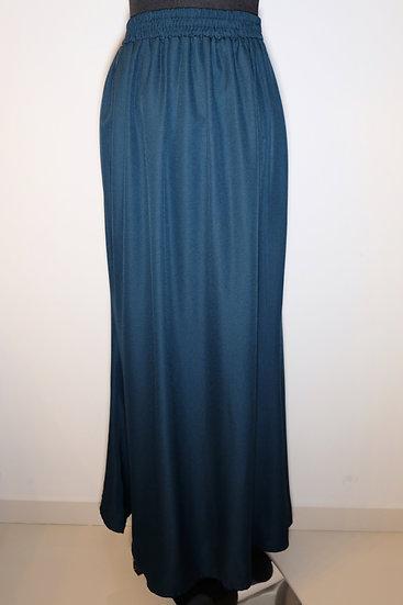 Green Polyester Long Skirt