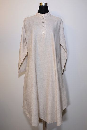 Cotton Linen Nehru Collar Tunic