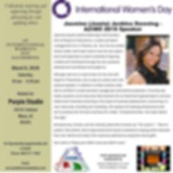 International Womens day 2019_JJPD speak